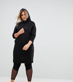 Свободное платье с капюшоном New Look Curve - Черный