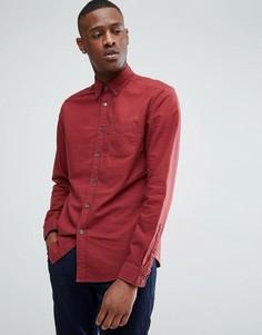 Красная утепленная оксфордская рубашка Esprit - Красный