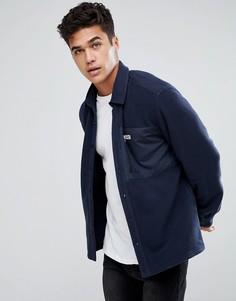 Флисовая рубашка классического кроя Jack & Jones Originals - Темно-синий