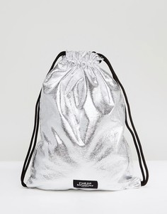 Рюкзак металлик со шнурком Cheap Monday - Серебряный