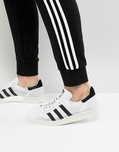 Белые кроссовки adidas Originals Superstar Boost Primeknit - Белый