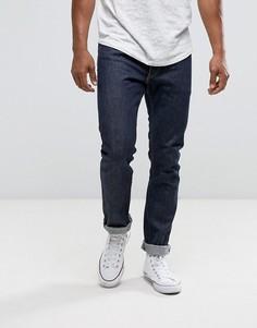Узкие джинсы прямого кроя с золотистыми строчками на кромках Levis 50th Anniversary 505C - Темно-синий Levis®