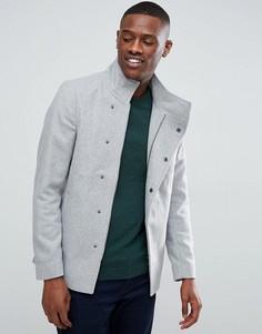 Пальто асимметричного кроя с добавлением шерсти Only & Sons - Серый