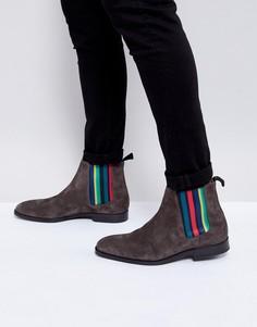 Серые замшевые ботинки челси PS Paul Smith Gerald - Серый