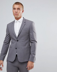 Серый супероблегающий пиджак River Island - Серый