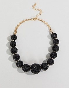 Ожерелье с блестящим шариком Coast - Черный