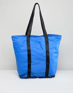 Ярко-синяя складываемая сумка Calvin Klein - Синий