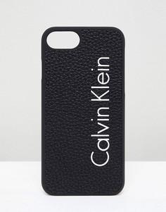 Чехол для Iphone 7 с логотипом Calvin Klein - Черный