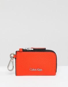 Кошелек для мелочи на молнии Calvin Klein - Оранжевый