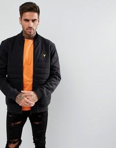 Черная куртка с воротником-стойкой Lyle & Scott - Черный