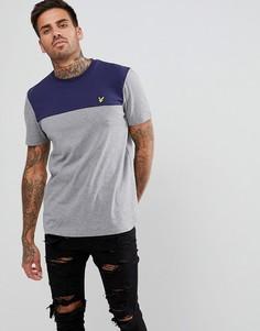 Серая футболка в стиле колор блок Lyle & Scott - Серый