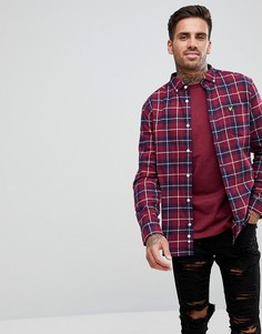 Бордовая фланелевая рубашка в клетку Lyle & Scott - Красный