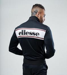 Черная спортивная куртка с логотипом на спине Ellesse - Черный
