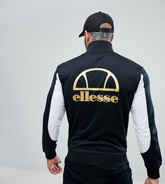 Спортивная куртка с логотипом металлик на спине Ellesse - Черный