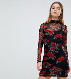 Платье с цветочным принтом Noisy May Petite - Мульти