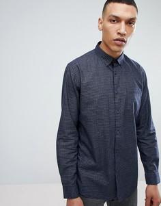 Рубашка в мелкую клетку Common People - Темно-синий