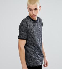 Черная футболка с цветочным принтом и блестящими полосками Reclaimed Vintage - Черный