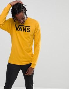 Желтый классический лонгслив Vans V00K6H2MR - Желтый