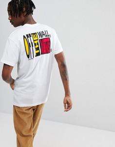 Белая футболка с принтом Vans Circa 66 VA36UDWHT - Белый