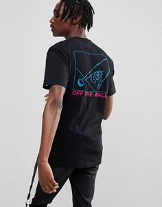 Черная футболка с принтом Vans VA36UEBLK - Черный
