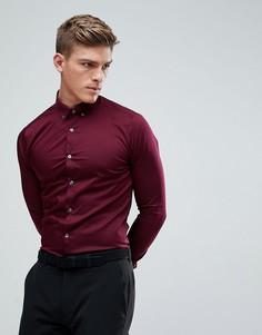 Бордовая облегающая рубашка Burton Menswear - Красный
