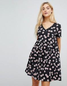 Свободное платье с цветочным принтом Daisy Street - Черный