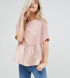 Топ с баской и бантиком Vero Moda Petite - Розовый