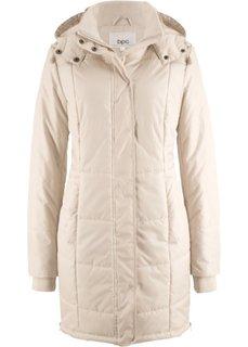 Утепленная стеганая куртка (бежевый) Bonprix