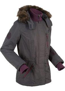 Куртка с уютной подкладкой и ватным наполнителем (темно-серый) Bonprix