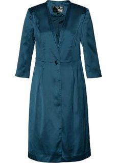Длинный пиджак из сатина (серо-синий) Bonprix