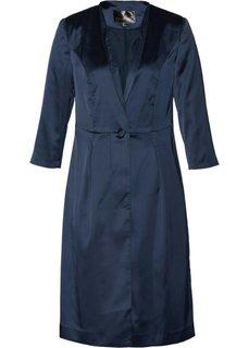 Длинный пиджак из сатина (темно-синий) Bonprix