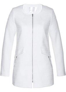 Длинный пиджак из букле (белый) Bonprix