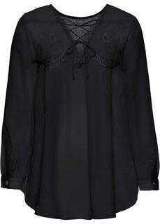 Блузка с красивым решением спинки (черный) Bonprix