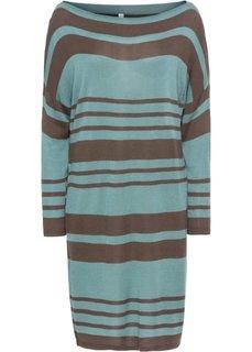 Платье вязаное (антрацитовый/минерально-синий в полоску) Bonprix