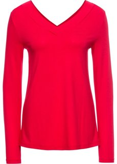 Футболка, базовый гардероб (красный) Bonprix