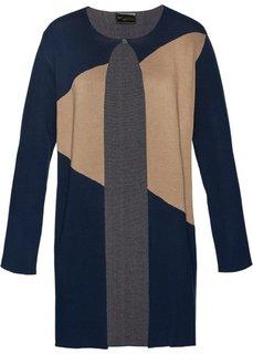 Пальто вязаное (темно-синий/серый меланж/верблюжий) Bonprix