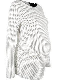 футболка для беременных, завязывается на ленту (кремовый/черный с рисунком) Bonprix