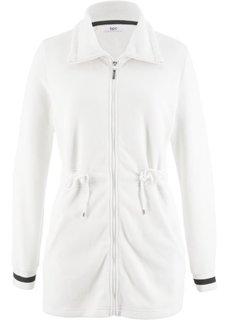 Длинная флисовая куртка (кремовый) Bonprix