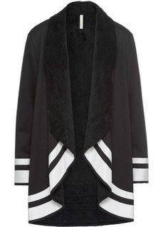 Короткое пальто (черный/белый) Bonprix