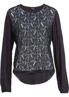 Кружевная блузка из хлопка (белый) Bonprix