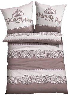 Постельное белье Принцесса, линон (цвет пудры) Bonprix