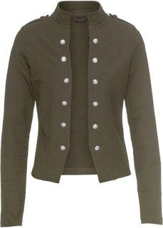 Пиджак с декоративными пуговицами (темно-оливковый) Bonprix