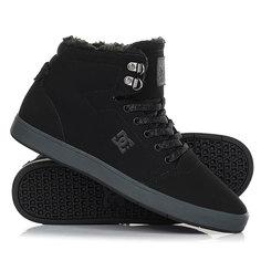Кеды кроссовки зимние DC Shoes Crisis High Wnt Black/Grey