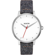 Кварцевые часы женский Nixon Kensington Leather Gray/Tan