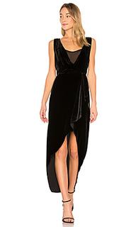 Ria asymmetrical wrap dress in black - BCBGMAXAZRIA