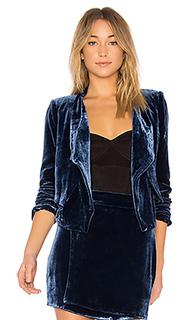 Lloyd easy layered jacket in imperial blue - BCBGMAXAZRIA