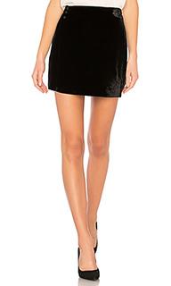 Albie mini skirt in black - BCBGMAXAZRIA