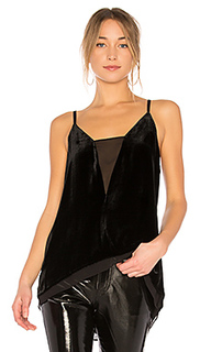 Lyssa tank top with asymmetrical hem in black - BCBGMAXAZRIA