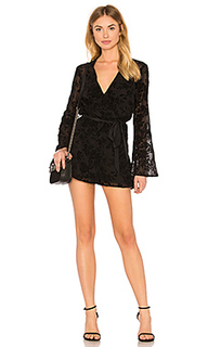 Bell sleeve lace romper in black - BCBGeneration