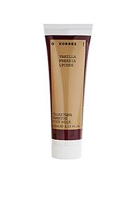 Увлажняющий крем для тела vanilla freesia - Korres